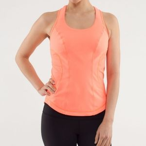 Lululemon Cardi Kick Tank Pop Orange